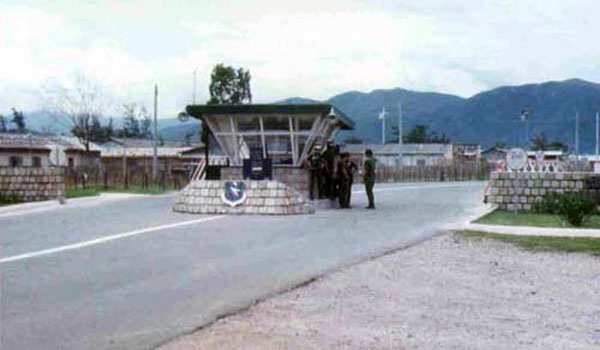 1. Nha Trang AB, Main Gate. Photo by: Sebben Domenic. 1969.