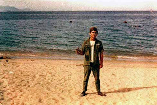 10. Nha Trang AB: Beach. Photo by Pat Houseworth, 1969-1970.