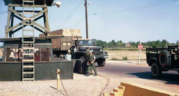7. Phu Cat AB, Front Gate and Tower Duty with QC. Photo by: Bill Marshall, LM 85, PC, 37th SPS, 1968-1969.