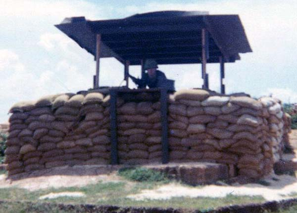 9b. Phu Cat AB, Perimeter Bunker and M-60. 1969. Close up. Photo by: David Hayes, LM 462, CRB, 12th SPS; PC, 37th APS, 1967-1968.