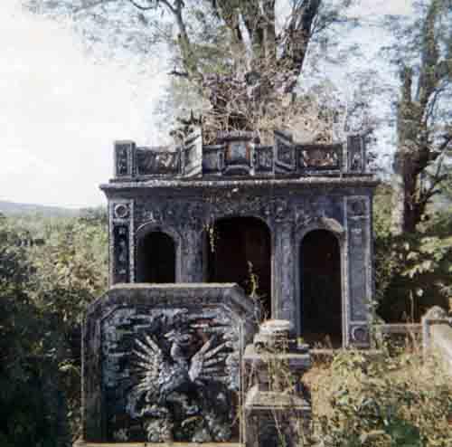 Temple on the perimeter.