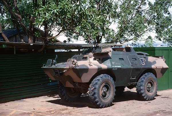 23. XM-706, V100 Commando Car. Photo by Don Bishop. 1969-1970.