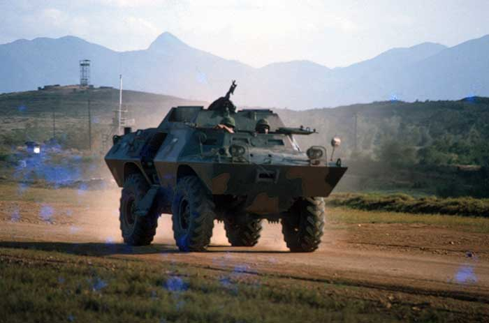 24. XM-706, V100 Commando Car, perimeter road, Phu Cat AB, 1970. Photo by Don Bishop. 1969-1970.