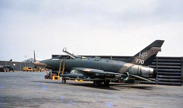 34. What we defended: When I arrived in March of 1969, the 37th TFW was flying F-100s. Photo by Don Bishop. 1969-1970.