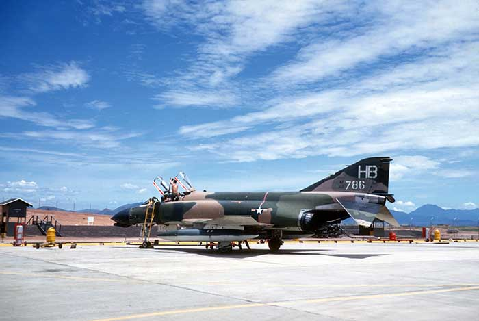 31. What We Defended: In 1969 the F-100s were deployed away from Phu Cat, and the 37 TFW received F-4D's. Photo by Don Bishop. 1969-1970.