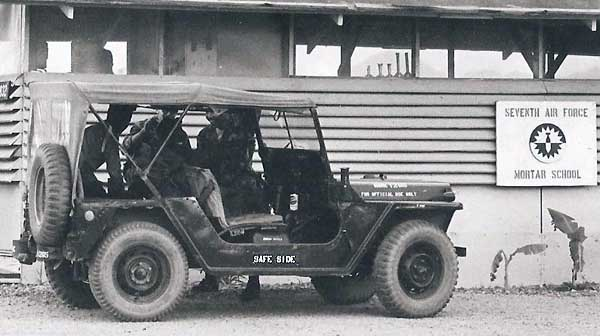 7. Phu Cat AB, SPS Safeside Jeep: Close up. USAF Photo via Don Bishop 1969-1970.