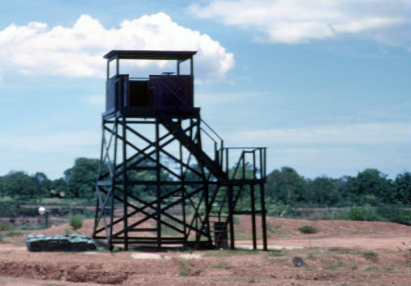 6b. Phu Cat AB, Perimeter Tower and Bunker. Photo by: David Hayes, LM 462, CRB, 12th SPS; PC, 37th APS, 1967-1968.