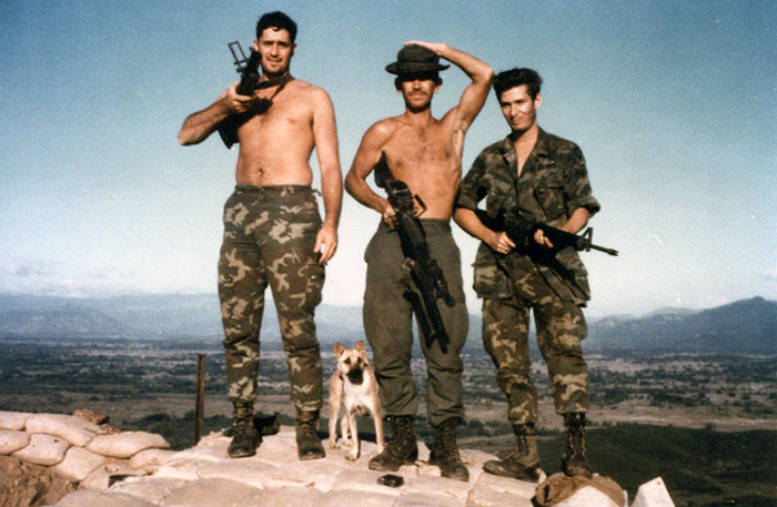 1. Phu Cat AB: Moulton and Cobra Troops. Photo by: Doug D. Davis, 1968.