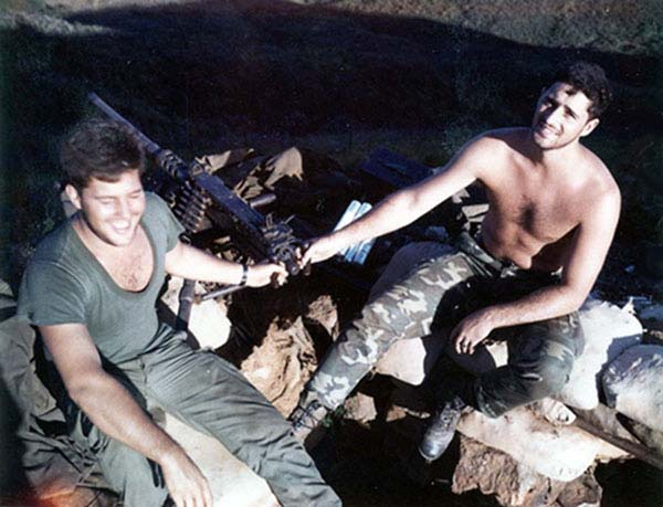 8. Phu Cat AB: Post 151, Doug Davis and Moulton, with 50 Cal. Photo by: Doug D. Davis, 1968.