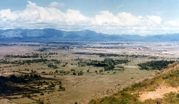 16. Phu Cat AB: Post 151, View, NNW. Photo by: Doug D. Davis, 1968.
