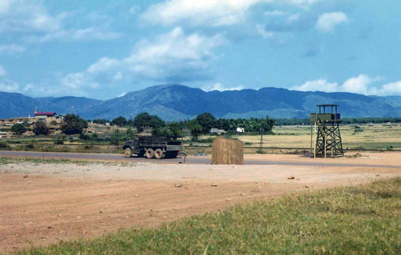 10a. Phu Cat AB, Perimeter Gate-Tower, Air Police post. 1965-1966. Photo by: unknown.