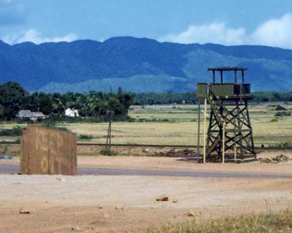 10b. Phu Cat AB, Perimeter Gate-Tower, Air Police post. Close up. 1965-1966. Photo by: unknown.