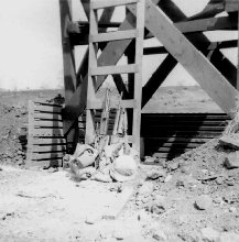 13. Pleiku AB, Perimeter Tower ladder. 1967-1968. Photo by: Pat Dunne, LM 40, PK, 633rd SPS. 1968.