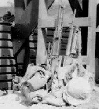 13. Pleiku AB, Perimeter Tower gear. 1967-1968. Photo by: Pat Dunne, LM 40, PK, 633rd SPS. 1968.