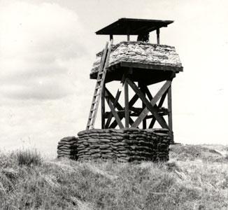 1. Pleiku AB, Perimeter Tower and Bunker. Photo by: Clifton Larry Sutherland (VSPA-111), PR, 822nd CSPS. 1968-1969.