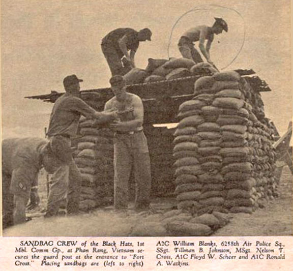 7. Phan Rang AB: Fortifying Bunker. 6258th APS. Photo by: unknown.