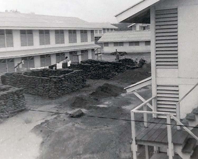 18. Phan Rang AB: Barracks Area under construction. Photo by: Van Digby, 1968.