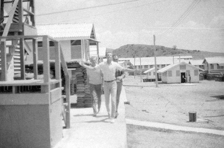 20. Phan Rang AB: SP Barracks. Airmen Johnston, Kinderberger, and Digby. Photo by: Van Digby, 1968.