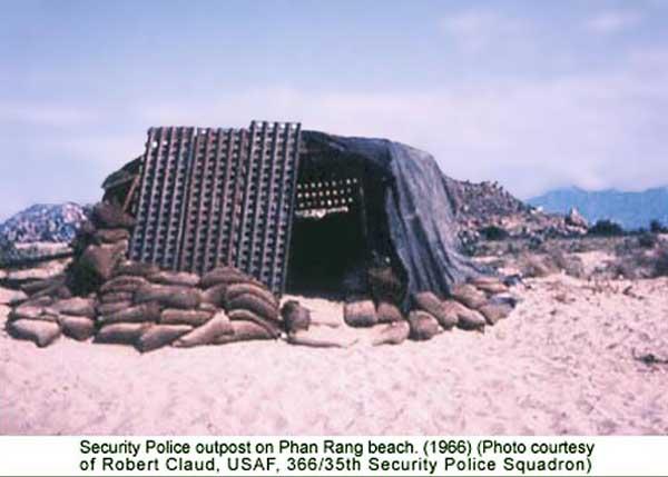 17. Phan Rang AB: Beach Bunker post. 1966-1967. Photo by: Robert Claud, PR, 35th SPS, 1966-1967.