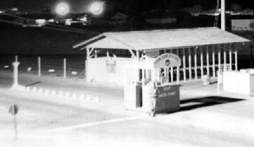 2. Phan Rang AB: Main Gate closeup. Photographer: Barry A. McLean, LM 53, TK, 355th SPS; BMT, PR, TUY, 822nd CSPS. 1967-1969.