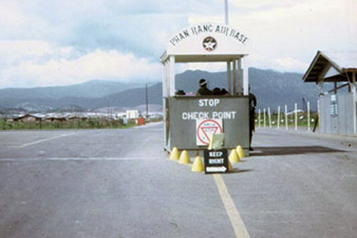3. Phan Rang AB: Main Gate Check Point. Photographer: Barry A. McLean, LM 53, TK, 355th SPS; BMT, PR, TUY, 822nd CSPS. 1967-1969.