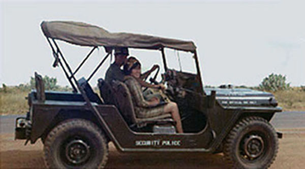 8. Phan Rang AB: SP Jeep. Photo by Gary Phillips. c1966.