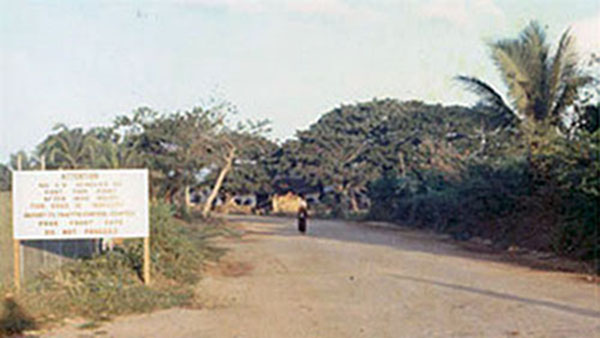 15. Phan Rang AB: Road to town. Photo by Gary Phillips. c1966.