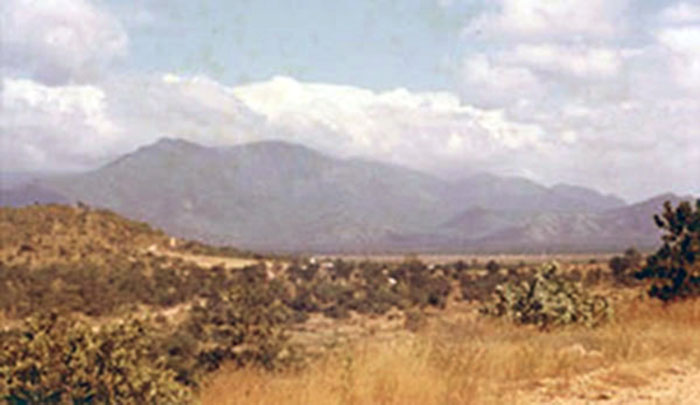 19. Phan Rang AB: Nui Dat Hill, with valley view. Photo by Gary Phillips. c1966.