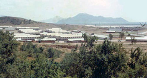 20. Phan Rang AB: Nui Dat Hill, with view of Barracks. Photo by Gary Phillips. c1966.