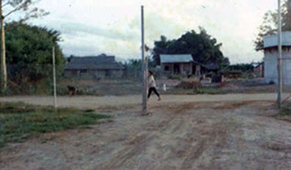 22. Phan Rang AB: Base gate. Photo by Gary Phillips. c1966.