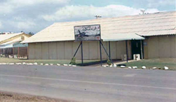 27. Phan Rang AB: Squadron building. Photo by Gary Phillips. c1966.