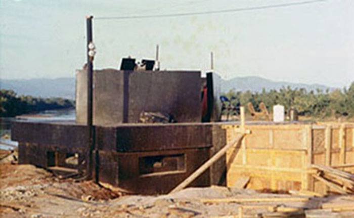 1. Phan Rang AB: New Bunker construction. Photo by Gary Phillips. c1966.