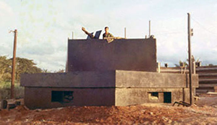 2. Phan Rang AB: New Bunker construction. Photo by Gary Phillips. c1966.