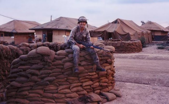 8. Phan Rang AB: Fortifying Bunker. 6258th APS. 1966-1967. Photo by: Newell Swartz, LM 262, PR, 35th SPS; PC, 37th SPS. 1966-1967.