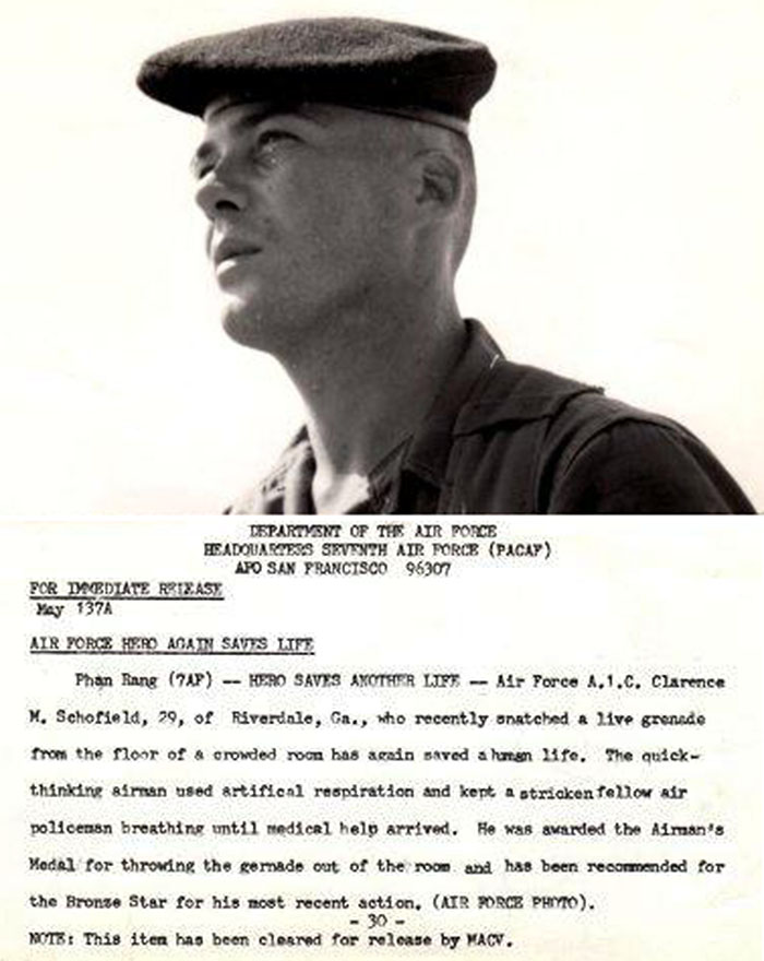 1. USAF 7th AF HQ: Press Release. Clarence Schofield. 1966.
