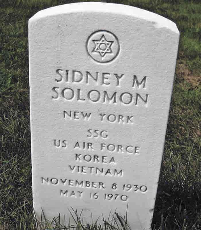 SSgt Sidney Morton Solomon, LOD 28 Jan 1970. Burial Location: Long Island National Cemetery, 2040 Wellwood Avenue, Farmingdale, NY 11735-1211. Grave: 14563A, Section