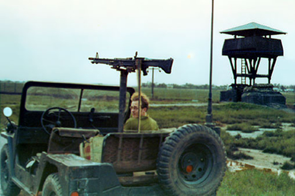 7. Tan My, Loran Station. Perimeter Tower and QRT Jeep. Det-1. Photo by: Michael Douglas, DN, 366th SPS; DET/TMY. 1971-1972.