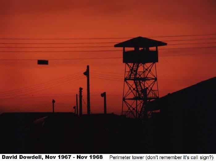 11. Tan Son Nhut AB, Perimeter Tower. 1968. Photo by: David Dowdell, LM 144, TSN, 377th SPS; DET 1/621st TCS/SP VT, 1967-1968.