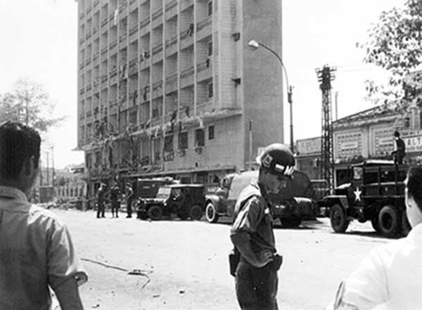 4. BEQ Bombing in Cholon. Photo by Kailey Wong, 1967-1968.