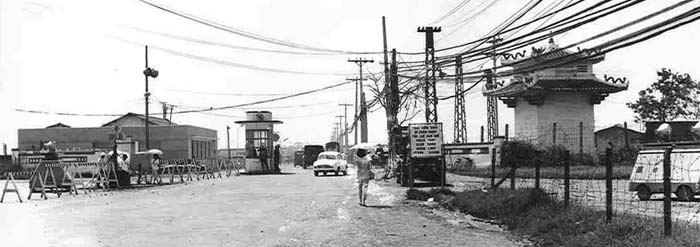 4. TSN AB: Main Gate. Pan-Photo by Roy F. Martin Jr. 1965.