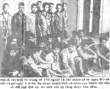 Front: Leaflet, Tet-68 NVA POWs