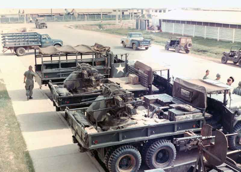 1. Tan Son Nhut AB, Security Police SAT Heavy Weapons, Quad-50s. 1965-1968. Photo by: Phil Block, LM 203, BH, 3rd SPS; TSN, 377th SPS, 1965-1968.