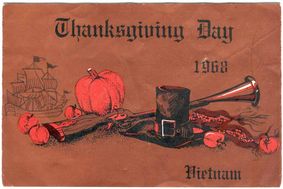 1. Thanksgiving Day card cover, 1968.