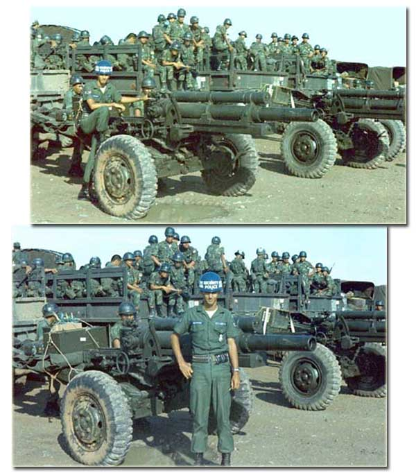 14. Tan Son Nhut AB, ARVN 105 Howitzers. 1967-1968. Photo by: Steve Rivers, LM 482, TSN, 377th SPS, Tango-1; AFOSI, Dist 51 Bangkok, 1967-1968; 1973-1975.