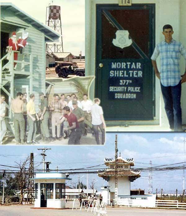 8. Tan Son Nhut AB, Tango-1 Tower, Main Gate. 1968. Photo by: Steven Rivers, LM 482, TSN, 377th SPS, Tango-1; AFOSI, Dist 51 Bangkok. 1967-1968; 1973-1975.