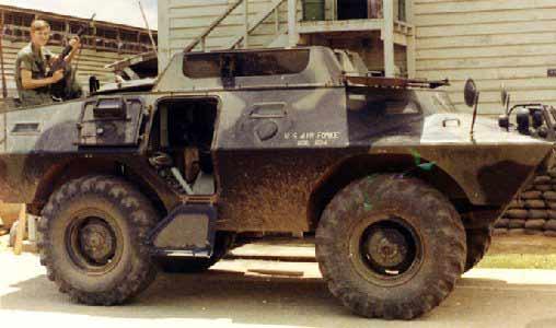8. Tan Son Nhut AB, V100, SAT Heavy Weapons, Barracks. 1972. Photo by: Randy Snyder, CRB, 483rd SPS; BH, 3rd SPS; TSN 377th SPS, 1972-1973.