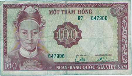 19. 100 Dong Note (front).