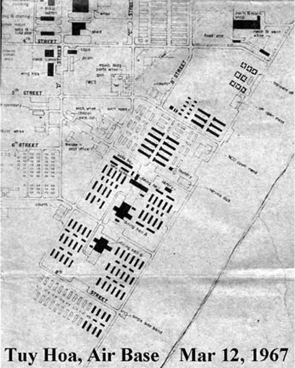 18. Tuy Hoa AB: Map, March 12, 1967. Ken deRussy. 1969-1970.