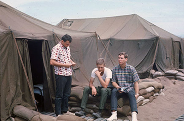2. Tuy Hoa AB: 31st SPS tent city. Off duty. Photo by Ed Barker. 1966-1967.