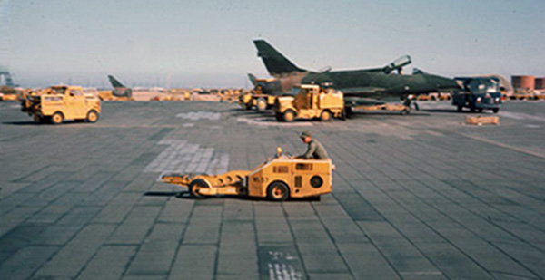 7. Tuy Hoa AB: flight line. Photo by Ed Barker. 1966-1967.